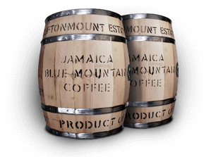 Clifton Mount Estate coffee barrel from Jamaica